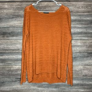 J. Crew 100% Linen Cable Knit Top